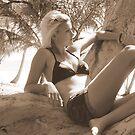 Paperbark Series - Sepia Sun by Caroline Angell