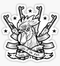 Cock of the Rock - Funny Military Combat Veteran AK47 Rooster Illustration Sticker