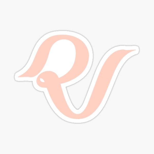 Red Velvet Official Lightstick Logo Pastel Coral 2018 Pegatina