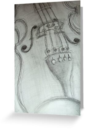 violin pencil sketch © 2009 patricia vannucci by PERUGINA
