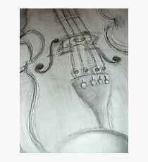 violin pencil sketch © 2009 patricia vannucci Photographic Print