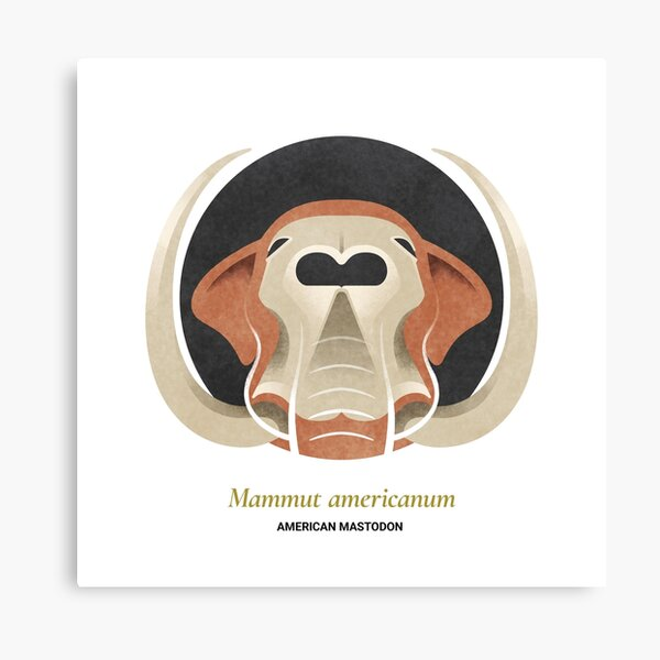 The Circles of Life: American Mastodon Canvas Print