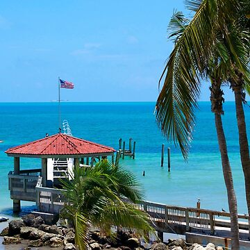 Key West Gazebo and Ocean by seacucumber