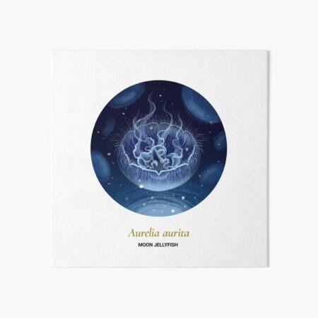The Circles of Life: Moon Jellyfish Art Board Print