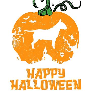 Bull Terrier Halloween Dog  by Sleazoid