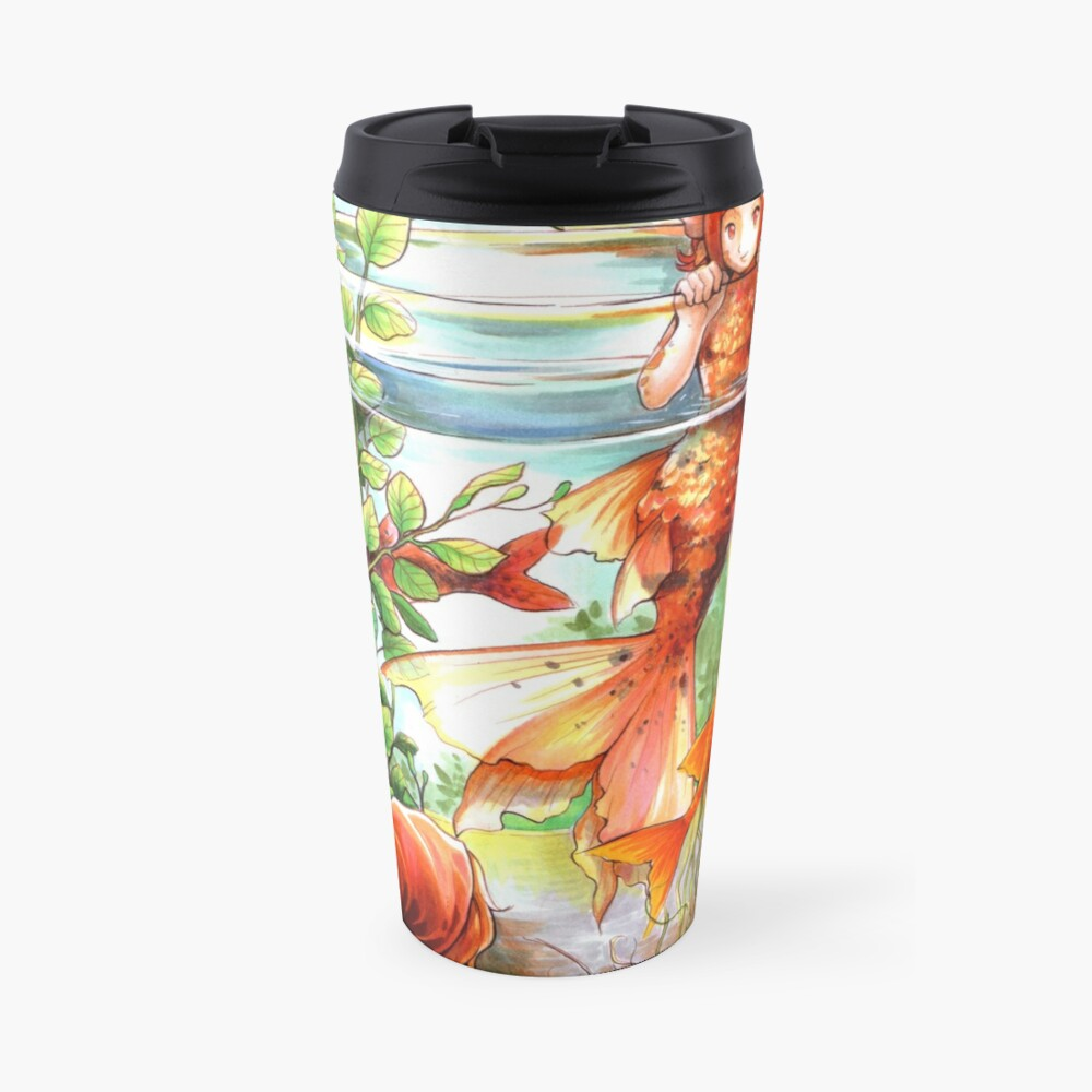 Through the water glass Travel Mug