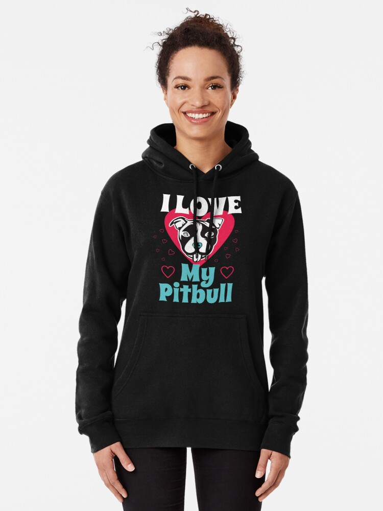 'I Heart My Pit Bull I Love My Dog Tee Shirt' T-Shirt by Dogvills