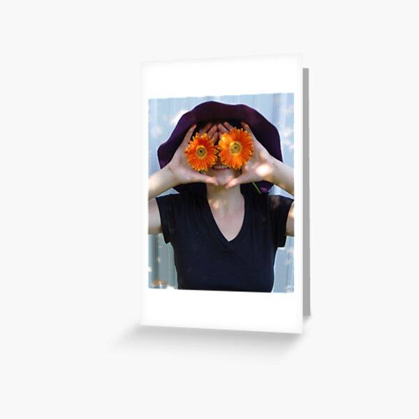 El laberinto del Flora Greeting Card
