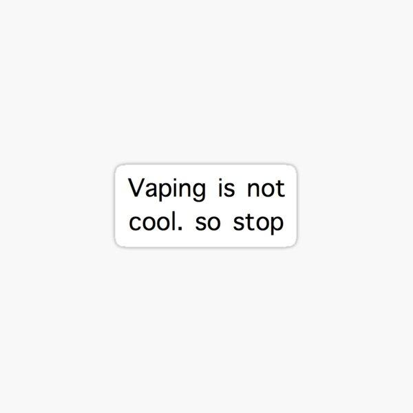 stop vaping kids Sticker