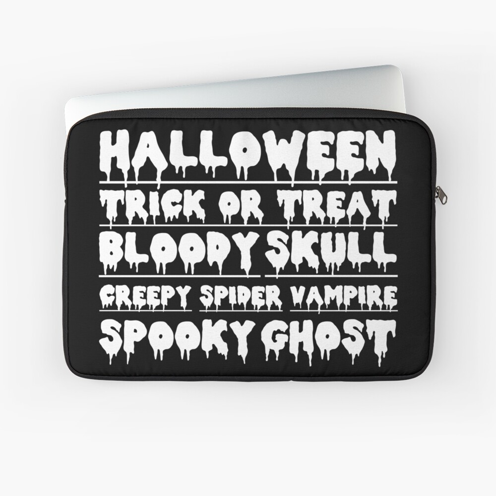 halloween trick or treat creepy skull bloody Laptoptasche