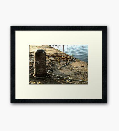 Harbour ropes Framed Print