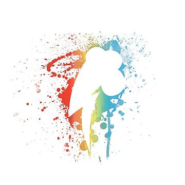 My Little Pony - Colorful Abstract Rainbow Dash Spray Splatter Vol. 1 by Obtineo