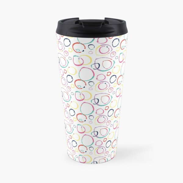 Hoops of colour Travel Mug