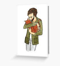 snuggle Greeting Card