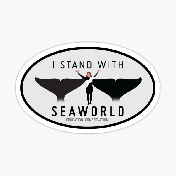 """I Stand With SeaWorld"" Logo Sticker"