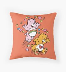 Tenderheart and Cheer Bear Vintage Retro 80s 1980s Throw Pillow