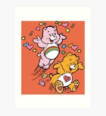 Tenderheart and Cheer Bear Vintage Retro 80s 1980s Art Print