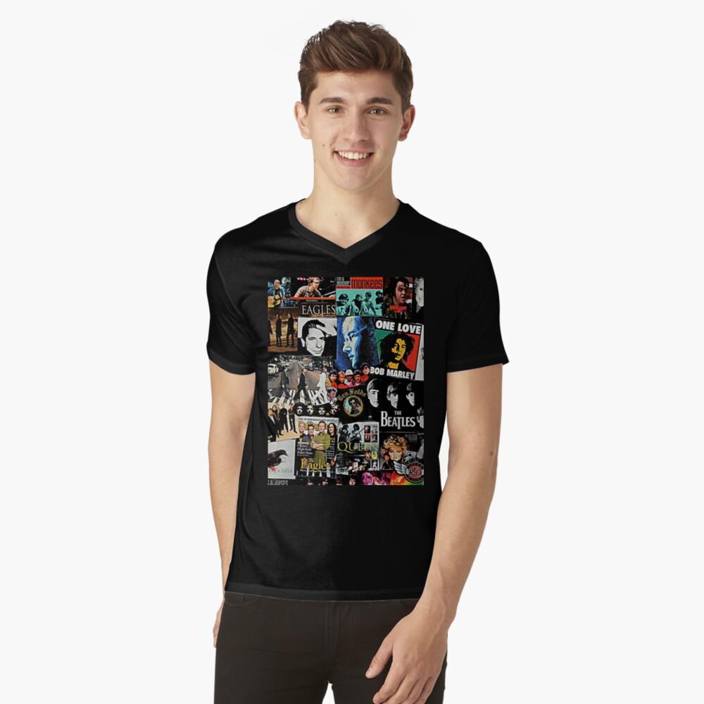 Rock Collage V-Neck T-Shirt