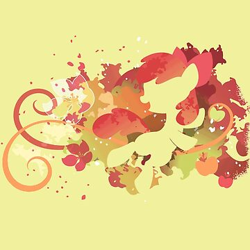 My Little Pony - Colorful Abstract Applebloom Silhouette by Obtineo