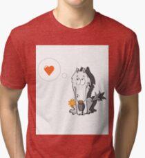 Wolf in love. Tri-blend T-Shirt
