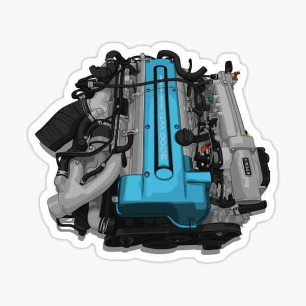 2JZ GTE Engine Sticker