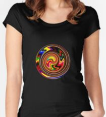 Happy Spiral Of Colors Women's Fitted Scoop T-Shirt