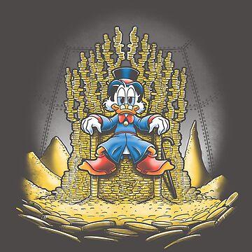 Gold throne by trheewood