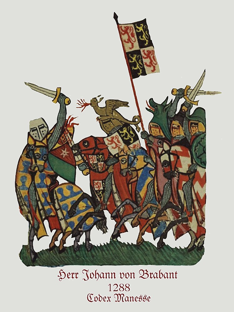 Johann von Brabant in 1288 Battle  by edsimoneit