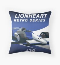 Lionheart Retro Pillows and Stickers Throw Pillow