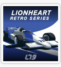 Lionheart Retro Pillows and Stickers Sticker