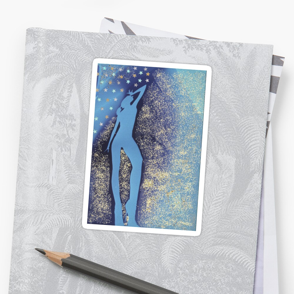 Mixed media watercolor collage analog darkroom handmade print  photograph of silhouette of female dancer  by edwardolive