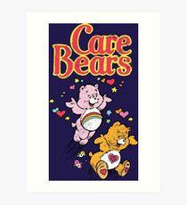 Tenderheart and Cheer Bear Distressed Vintage Retro 80s 1980s Art Print
