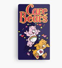 Tenderheart and Cheer Bear Distressed Vintage Retro 80s 1980s Metal Print