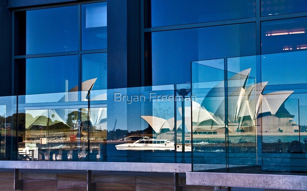 A Double Reflection on Sydney Opera House #3 - Australia by Bryan Freeman