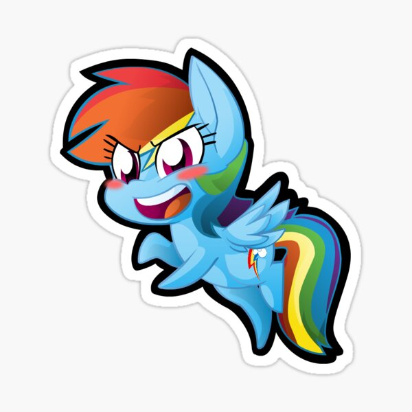 Chibi Rainbow Dash Sticker