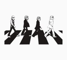 Storming Abbey Road (Black on White)
