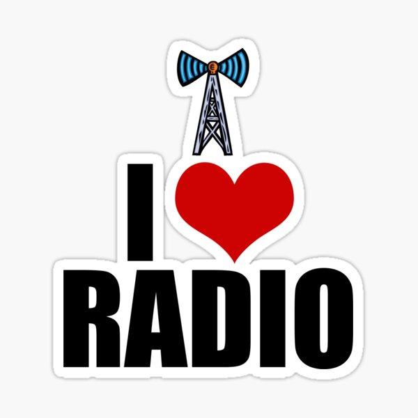 "I Love Radio"" Sticker by elishamarie28 | Redbubble"