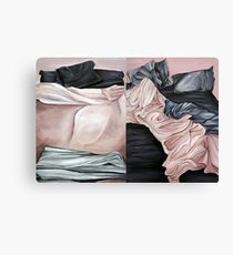 Bed, Day and Night Canvas Print