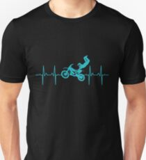 Motocross Dirt Bike MX Heartbeat Unisex T-Shirt
