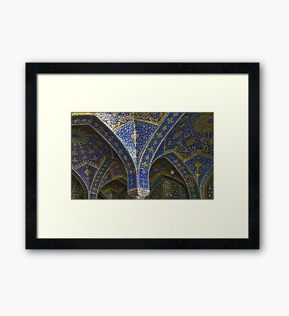 Inside Imam Mosque - Isfahan - Iran Framed Print