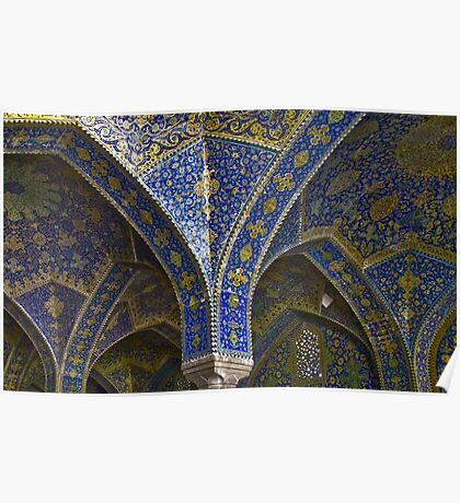 Inside Imam Mosque - Isfahan - Iran Poster