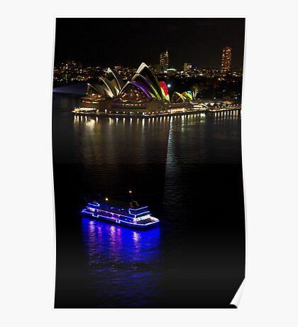 Sydney Opera House & Deep Blue - Sydney Harbour - Australia Poster