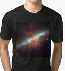 Starburst Galaxy Messier 82 Tri-blend T-Shirt