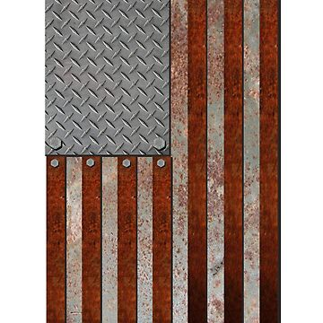 Rusty American Flag by CaveProject