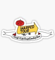 rip warped tour (in color) Sticker