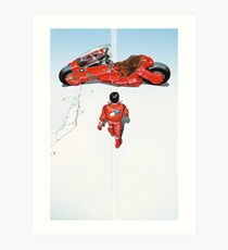 Akira / Motorrad Kunstdruck