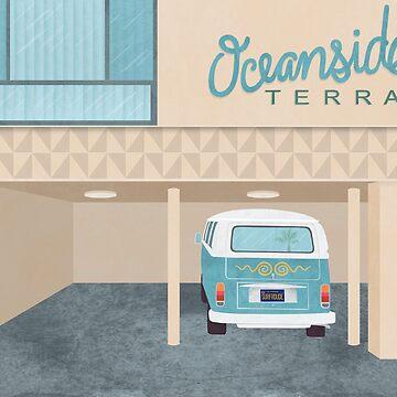 Oceanside Terrace Artwork by challisandroos
