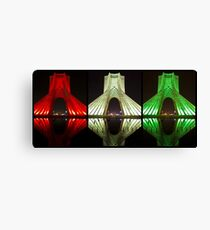 Azadi Tower (Triptych Reflection) -Tehran - Iran Canvas Print