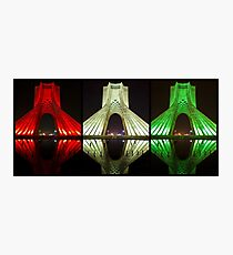 Azadi Tower (Triptych Reflection) -Tehran - Iran Photographic Print