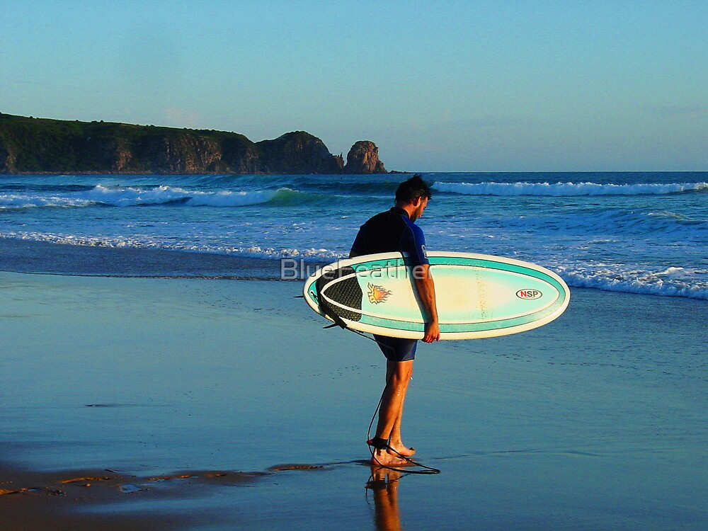 Surfer at Woolamai Beach by BlueFeather